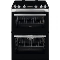 Zanussi ZCV66078XA 60Cm Double Electric Cooker